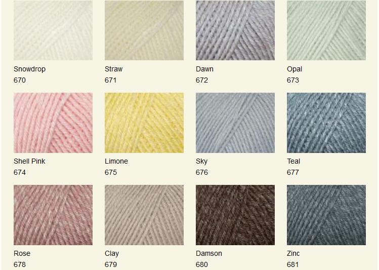 Baby Merino Silk DK shades top 9
