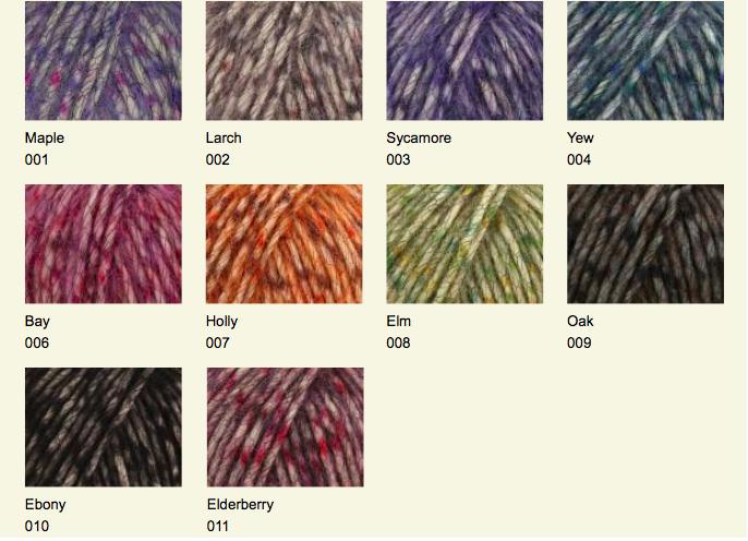 Fazed Tweed Shade Card