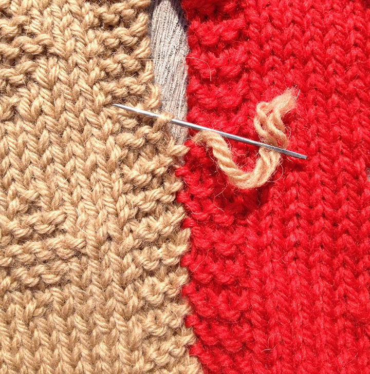 slip stitch used to sew knitting together knitting with. Black Bedroom Furniture Sets. Home Design Ideas