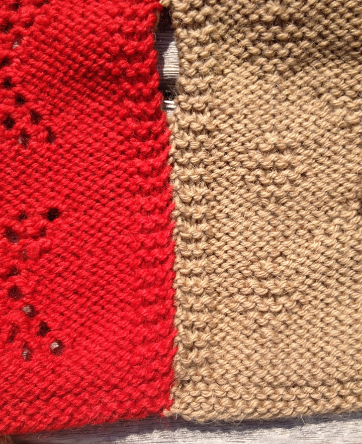Slip Stitch Knit Squares Together : Slip stitch used to sew knitting together Knitting With Rowan