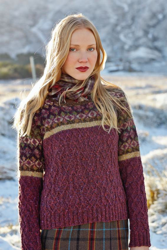 Ness designed by Marie Wallin using Rowan Tweed, Colourspun & Frost