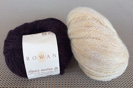 Alpaca Merino DK in the shades Stamford and Saxon
