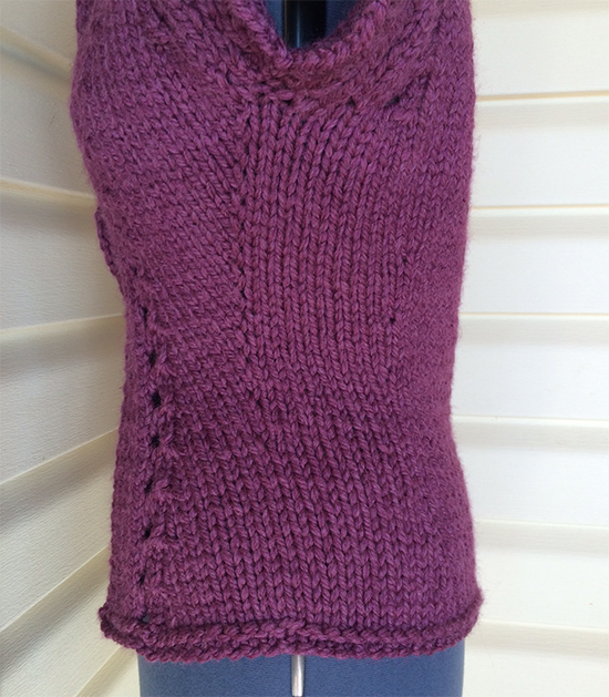 Knitting increases decreases waist shaping