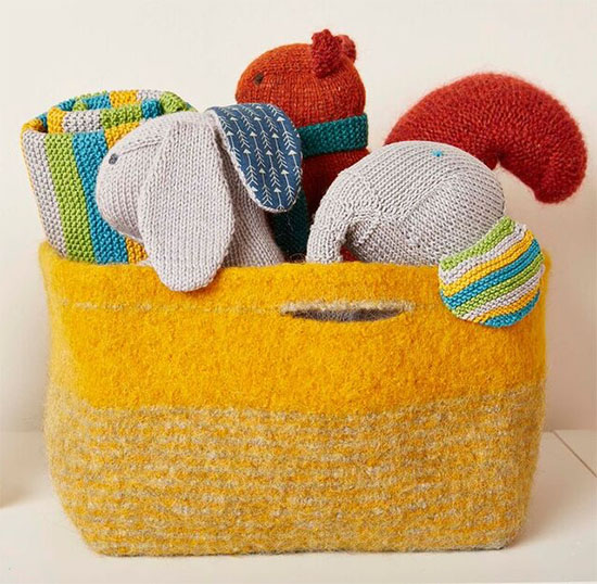 Knitted Nursery Collection Toy basket