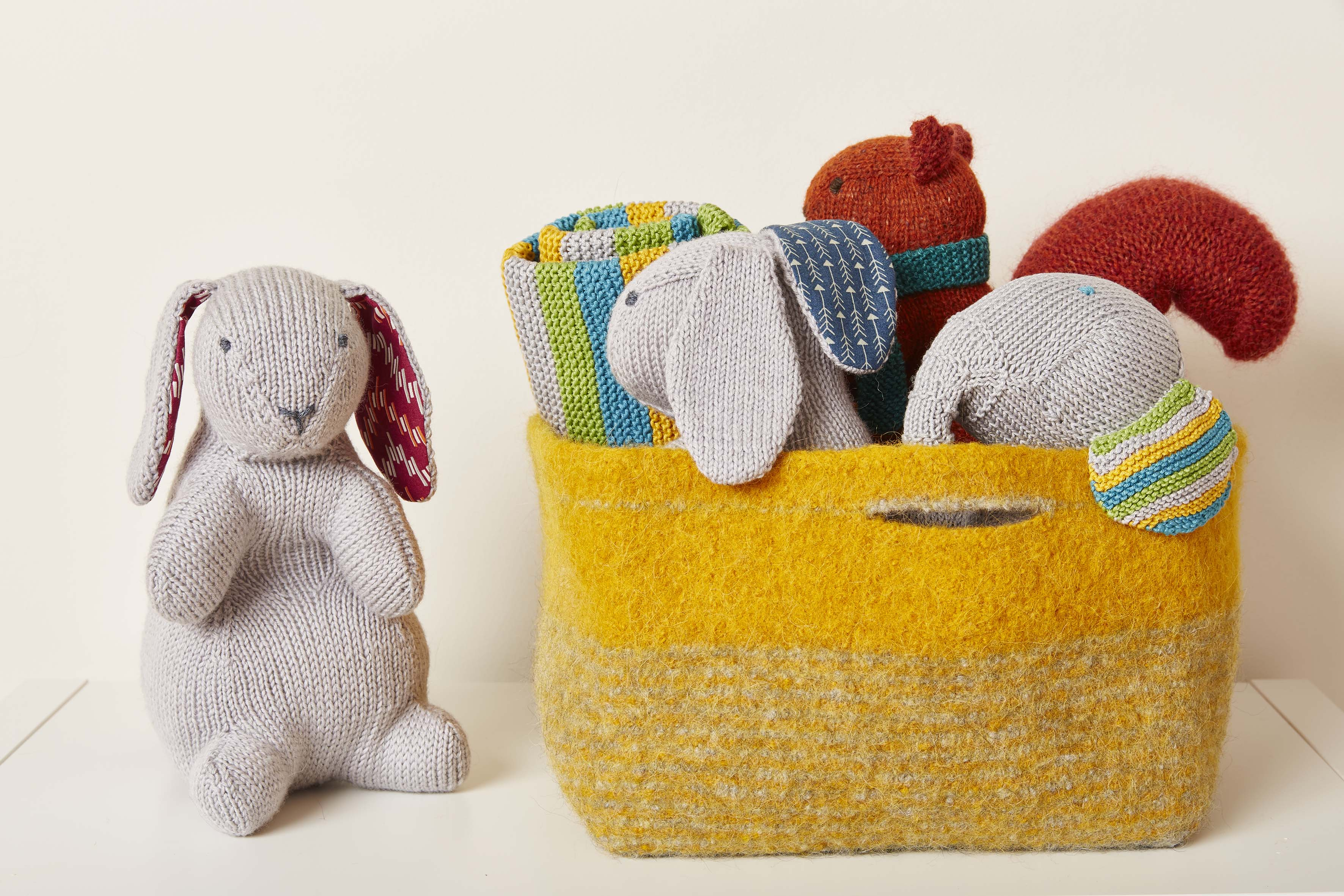 Knitted Nursey Collection Bertie and Toy Bea Bunnies