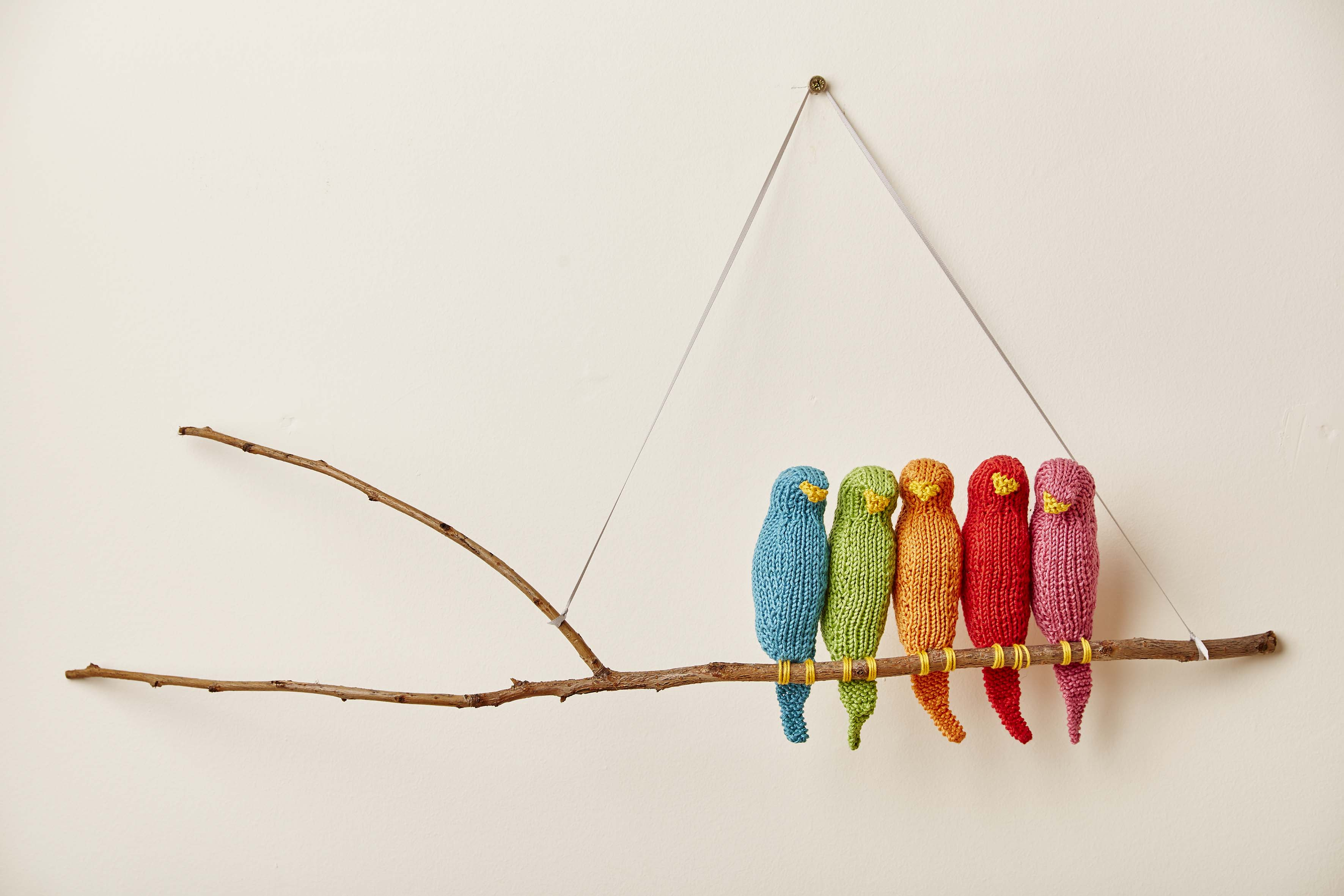 Knitted Nursery Collection Flock Wall Hanging
