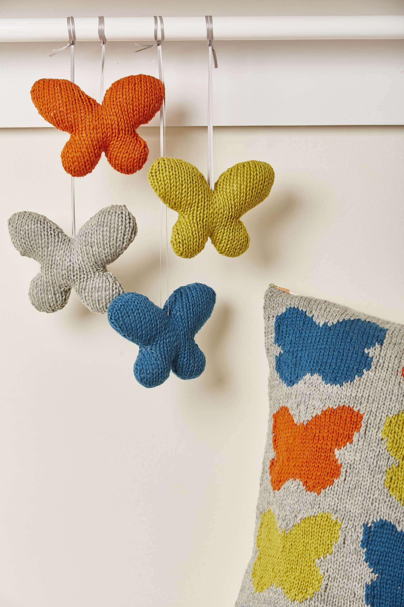 Knitted Nursey Collection Flutterbies Toy Butterflies