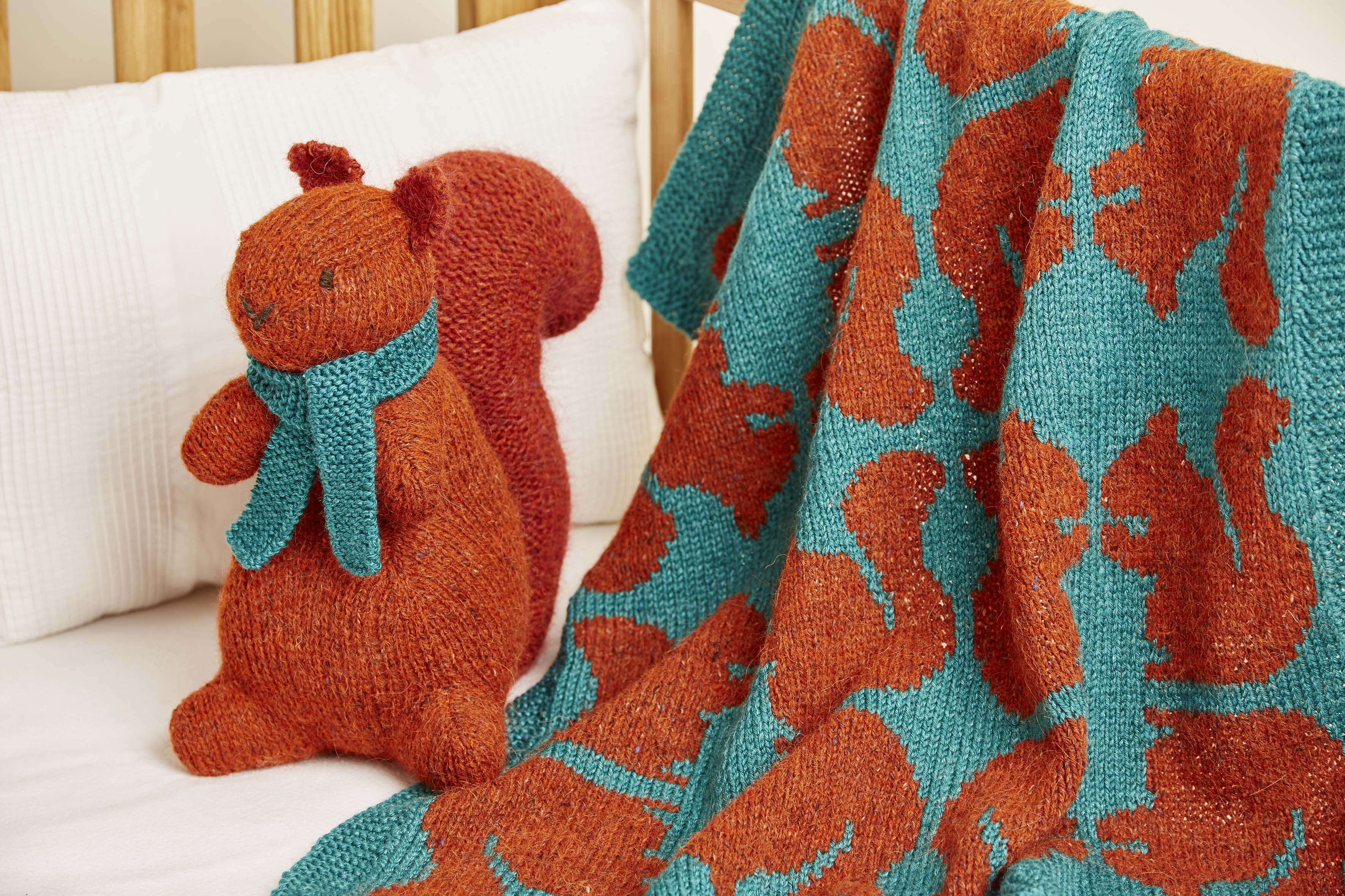 Knitted Nursery Collection Ginger Toy Squirrel