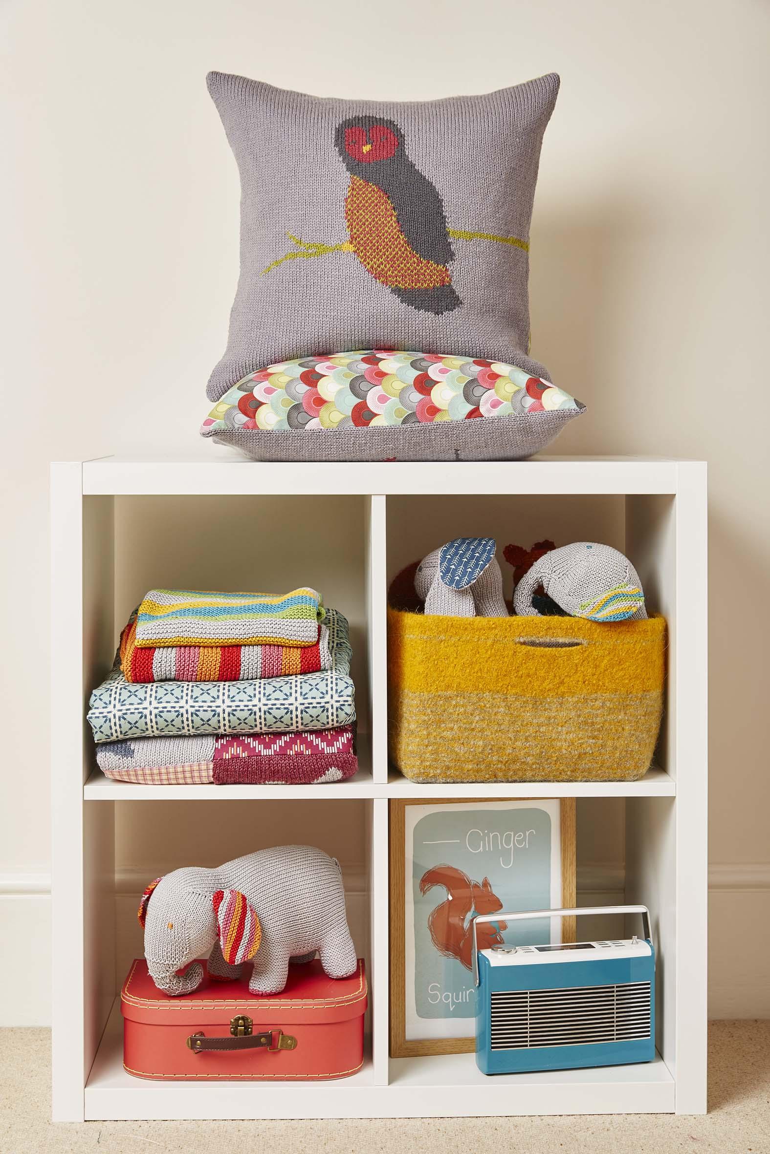 Knitted Nursery Collection Sleepy Owl Cushion
