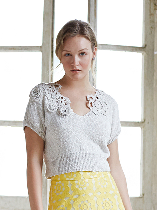 Eloisa, Short-sleeved sweater designed by Marie Wallin