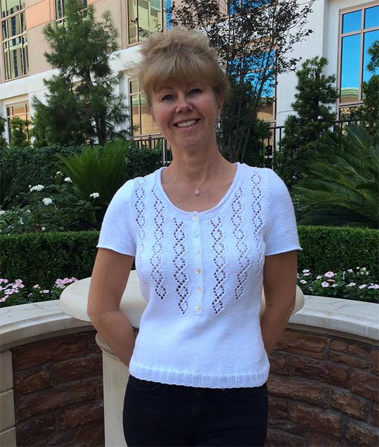 Rowan Rossetti Top knitted in Summerlite DK