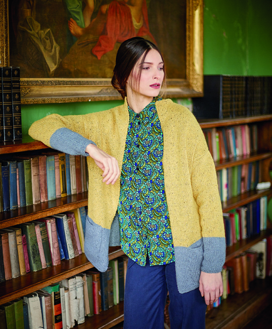 Tabor Cardigan in Rowan Felted Tweed