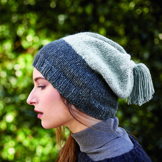 Tabor slouchy hat in Rowan Felted Tweed