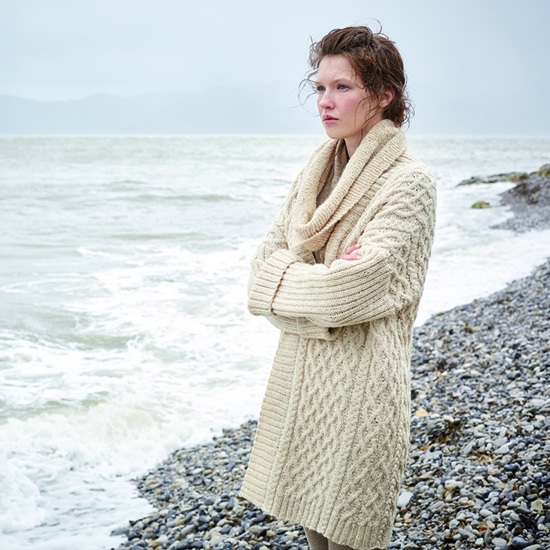 Umbra long and loose cardigan in Rowan Hemp Tweed