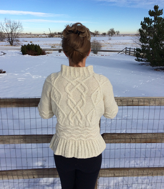 Rowan Wintery in Brushed Fleece back view