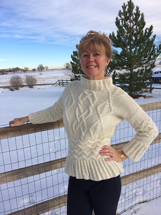Wintery Sweater by Rowan in Brushed Fleece