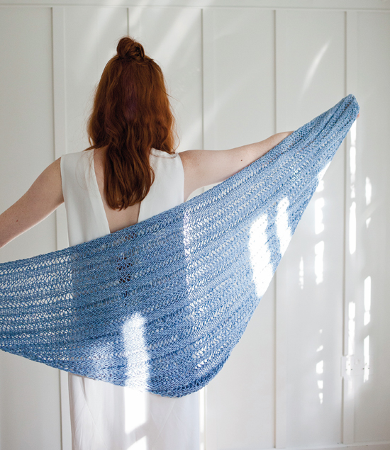 Sweet Maria: A simple triangular shawl by Wool And The Gang