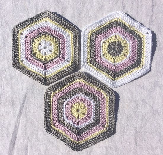 Hexagonal crochet shapes for Baby blanket