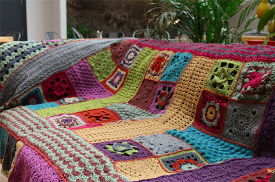 Photo of Lisa Richardson's Blanket CAL 2017