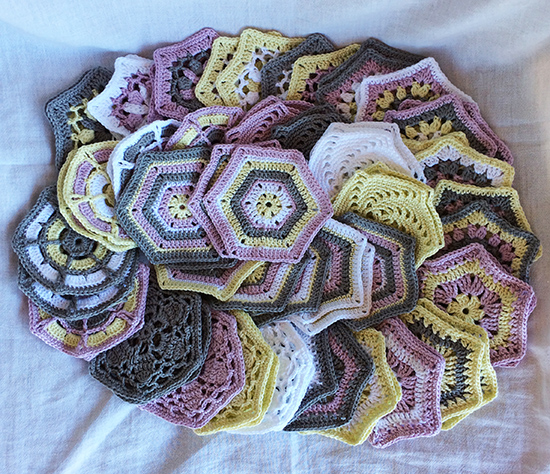 Lisa Richardson CAL Baby Blanket All 69 hexagons