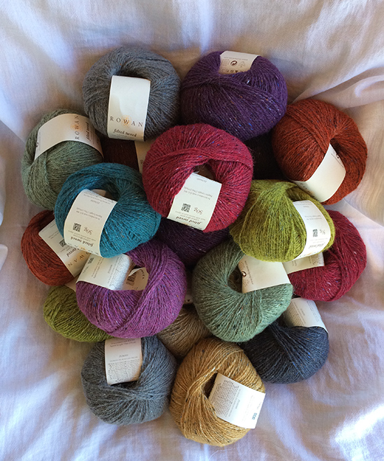 Rowan Felted Tweed DK yarns for Lisa Richardson's Crochet Along 2017