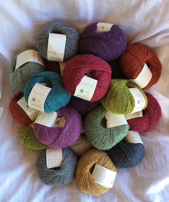 Rowan Felted Tweed DK yarns for Lisa Richardson's Crochet Along 2017