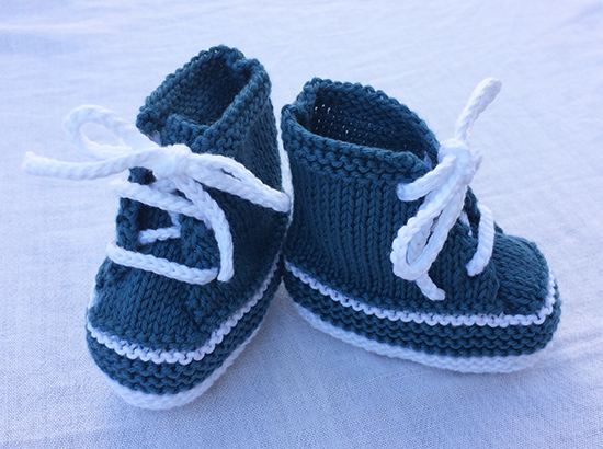 Knitted Baby Sneakers