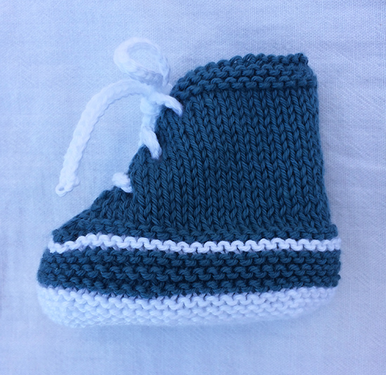 Knitted baby Bootie sneaker