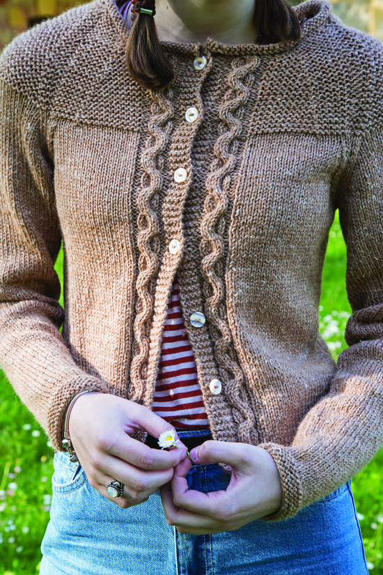 Wave Cable Cardigan designed by Martin Storey