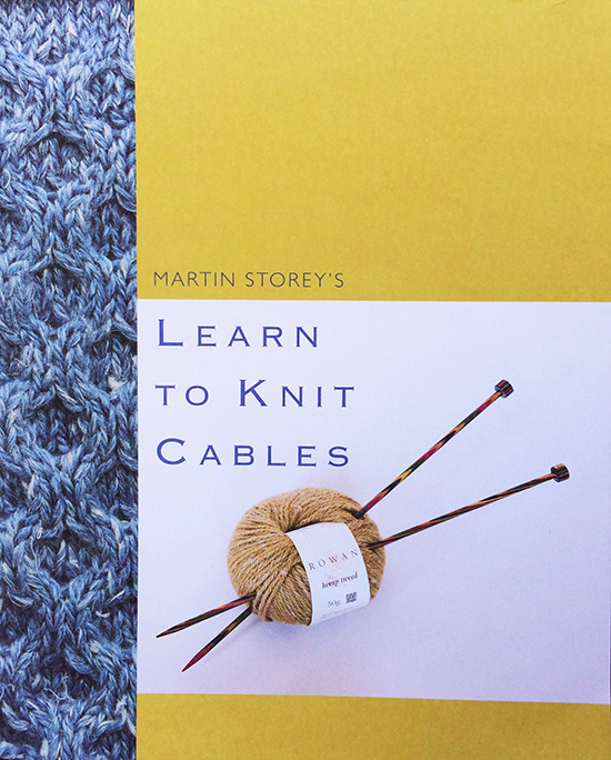 Martin Storey's Learn to knit cables front cover