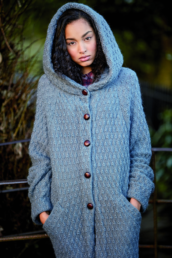 Sweeting Cardigan with hood from Rowan Magazine 62