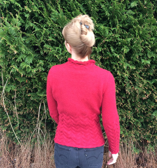 Cherry Red Rowan Kid Classic Jumper Back