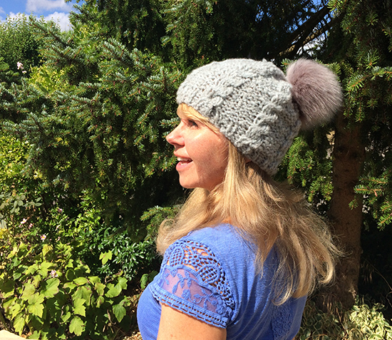 Esther Hartley wearing Cosy Merino Cabled Beanie