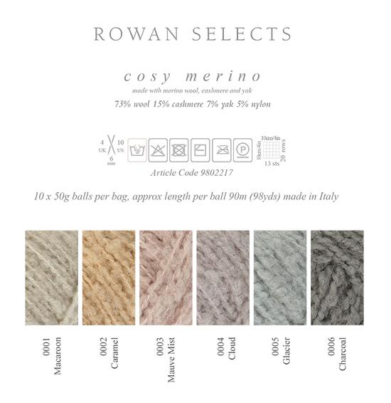 Rowan Cosy Merino Yarn Information