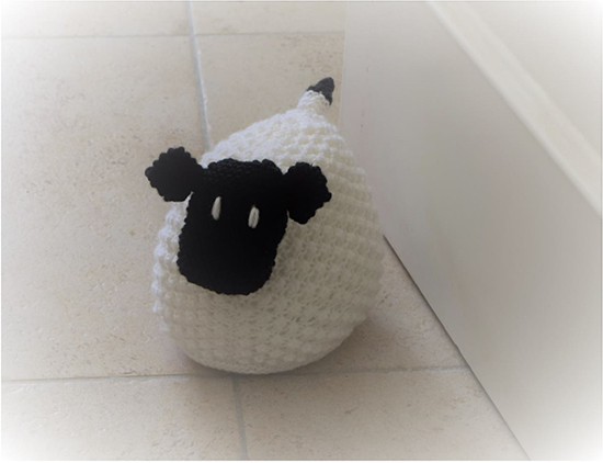 Picture taken from Denny Gould's Sheep Doorstop pattern