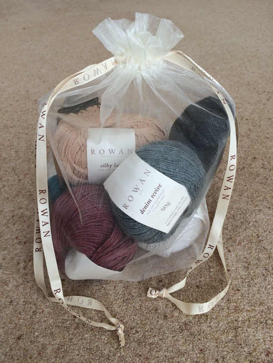 Rowan Yarns bag containing balls of yarn