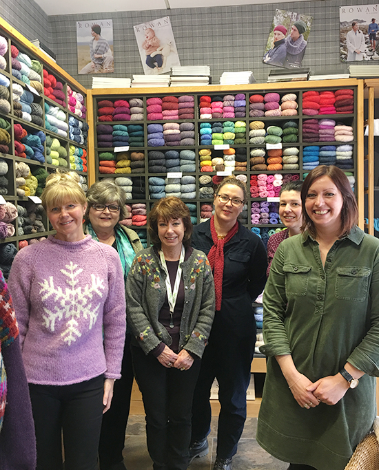 Group photo from Shoreham Knitting & Needlecraft