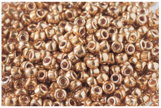 Debbie Abrahams Metallic Gold Beads - Code 562