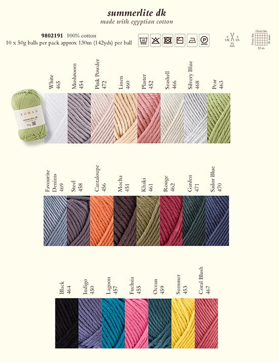 yarn shadecard summerlite dk