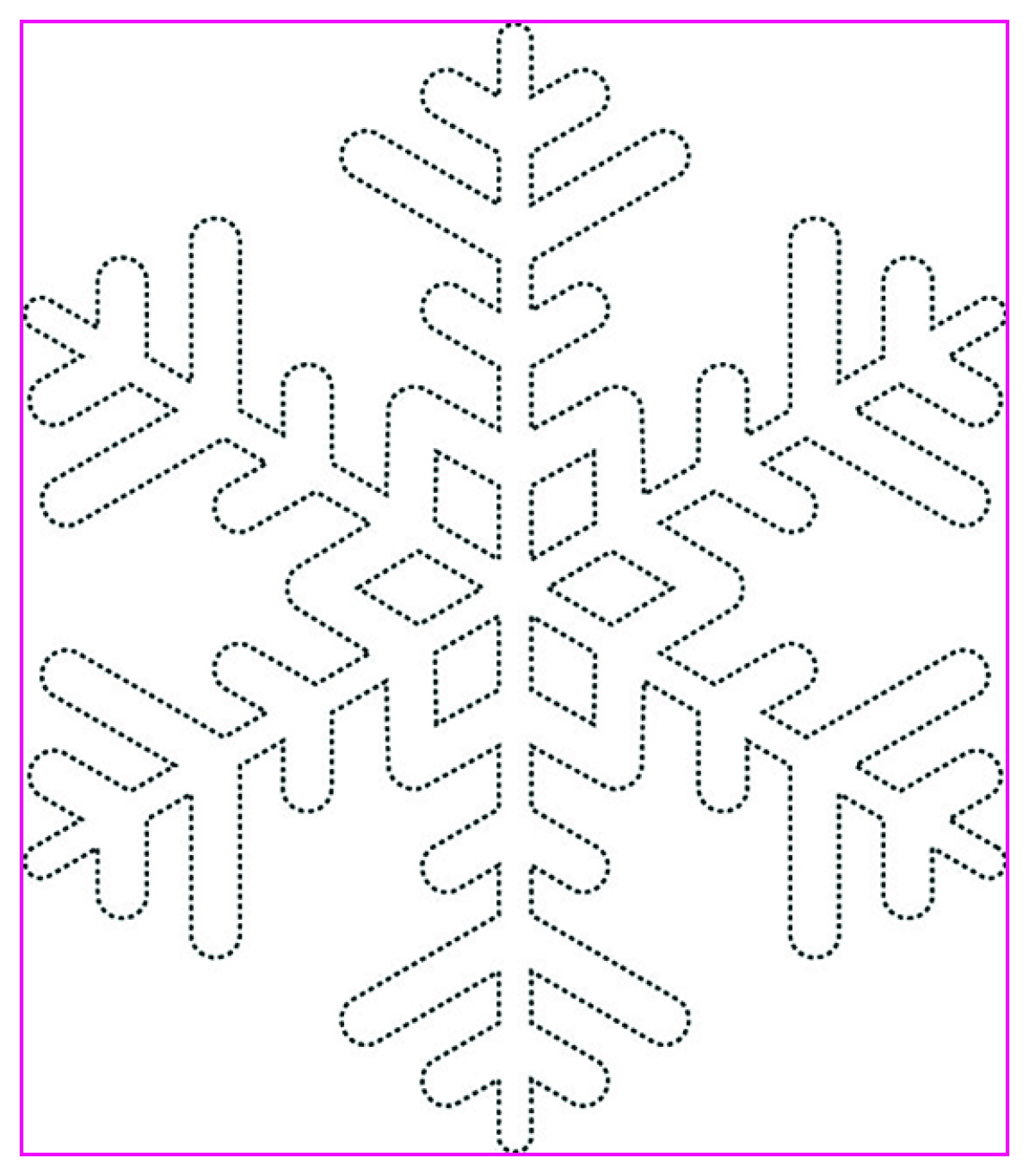 Snowflake Motif Rectangle