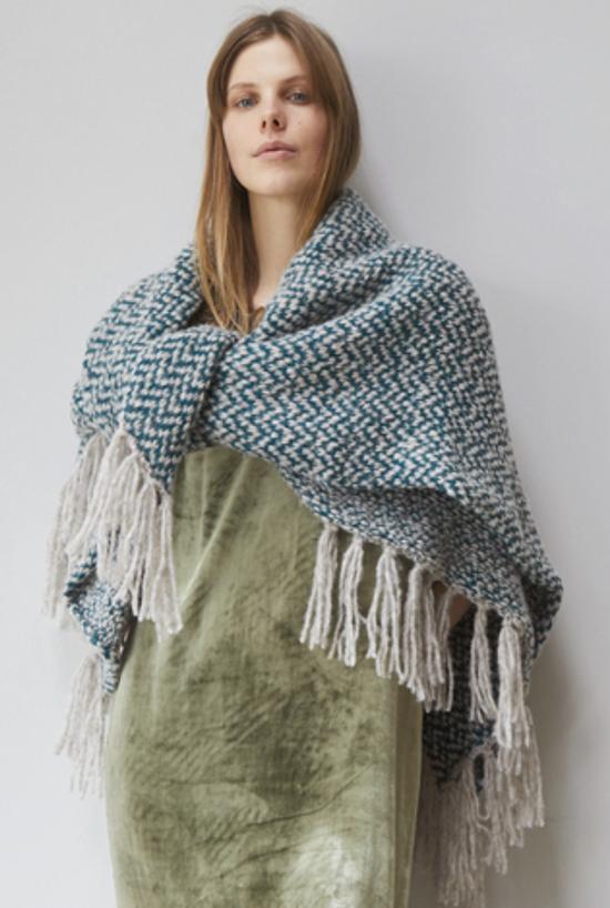 Rowan Marram fringed blanket